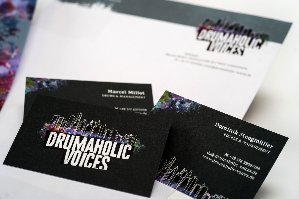 Drumaholic Voices Logoentwicklung