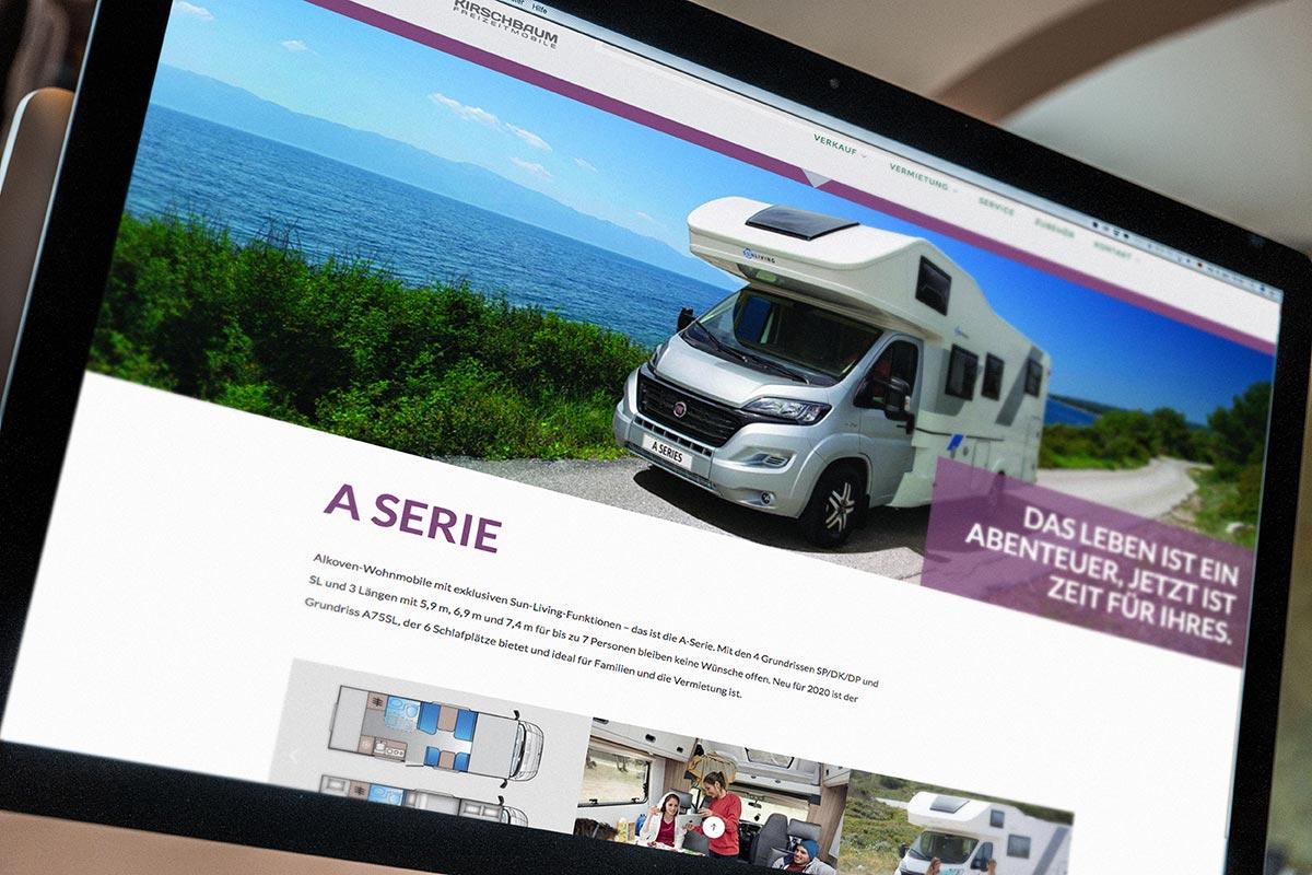 dieBergerDesigner Werbeagentur // Autohaus Kirschbaum // Website ...